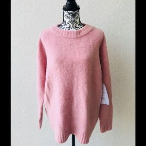 😍NWT Lord&taylor pink mohair oversized sweater M